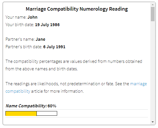 Numerology Compatibility Numbers for Marriage: Will it End