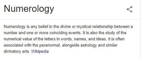 numerology definition wikipedia